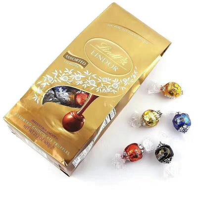 瑞士進口Lindt 瑞士蓮軟心巧克力混合精選口味約50粒600g分享裝婚慶喜糖巧克力