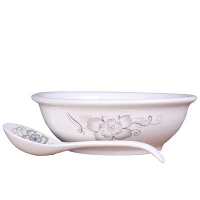LICHEN大汤碗9英寸家用大号面碗汤盆大汤勺组合