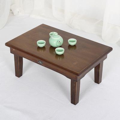 楠竹折叠桌炕桌实木榻榻米桌正方形地桌餐桌饭桌小茶几方桌矮桌子