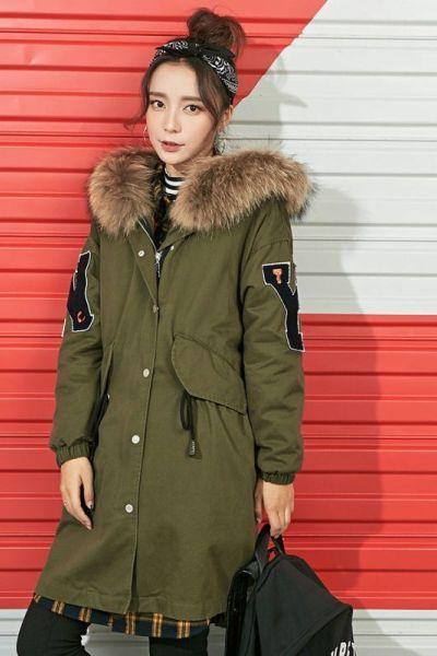 拉夏貝爾7M羽絨服女中長款新款韓版寬松顯瘦大衣加厚外套女70008155