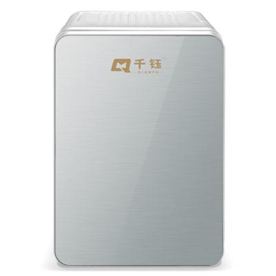 千鈺 8L車載冰箱 單門式制冷 小型家用宿舍迷你小冰箱 半導體冷熱箱 PD-8 銀色玻璃面板 (車家兩用)