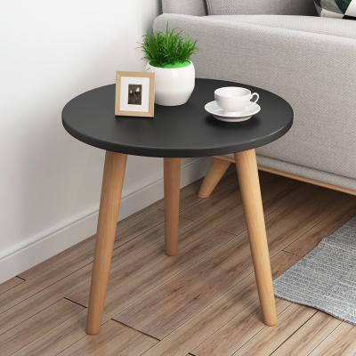 北欧简约现代家用小户型创意客厅卧室小矮茶边几沙发坐地圆边桌子