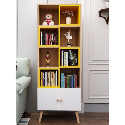 HOTBEE北欧书架落地儿童书柜置物架简约现代自由组合多层经济型省空间