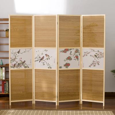 中式屏風隔斷移動折屏折疊隔斷折疊客廳簡約現代實木辦公室屏風
