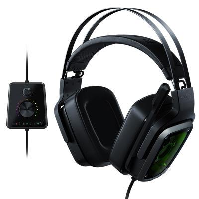 雷蛇(RAZER) 迪亞海魔V2頭戴式7.1電競游戲電腦耳麥耳機HIFI 吃雞絕地求生 迪亞海魔物理7.1