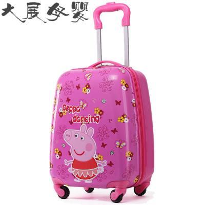 儿童拉杆箱可爱卡通定制行李箱1618寸四万向轮男女宝宝学生旅行箱