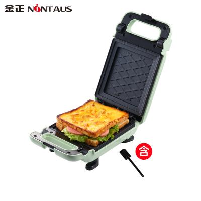 金正(NiNTAUS)早餐機 JZK-601家用早餐雙面加熱三明治機 華夫餅電餅檔烤面包機 全自動輕食機 綠色