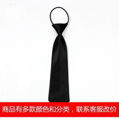 小学生校服领带时尚可爱幼儿园儿童领带英伦风儿童带领带衬衫男童 纯黑色