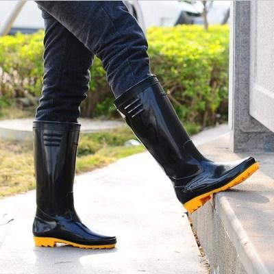 迪羅尼卡雨鞋男高筒雨靴牛筋耐磨耐酸勞保防滑水鞋洗車套鞋膠鞋工作鞋水靴