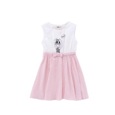 Жижиг улаан буурцагны хүүхдийн хувцас худалдааны төв нь ижил хэмжээтэй охидын зуны хувцаслалт, pleated юбка оёдог гадаад загвартай GXQ533KB3 120cm ягаан