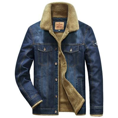 ZHAN DI JI PU 專柜正品冬裝款戰地吉圃牛仔服男牛仔夾克式時尚休閑大碼加絨外套棉衣5915