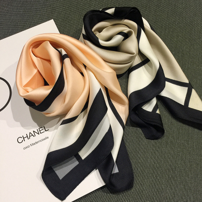 新款小方巾女士圍巾圍脖絲巾韓國小領巾夏頭巾腕巾