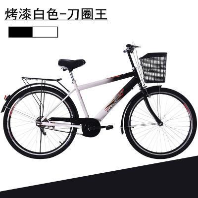 26寸男式自行车男士轻便男款城市通勤休闲车学生车成人复古单车