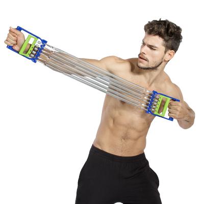 闪电客拉力器扩胸器弹簧臂力器力量训练多功能体育运动健身器材家用