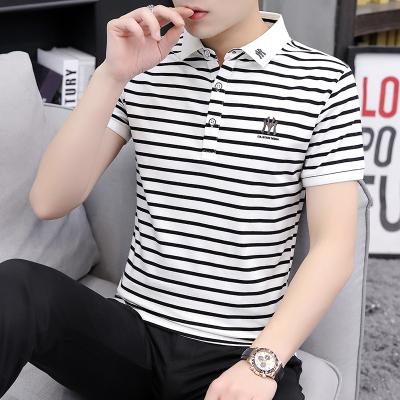 墨爾斯特(MO ER SI TE)2020夏季男新款潮流韓版修身男士短袖POLO衫t恤男翻領半袖T157