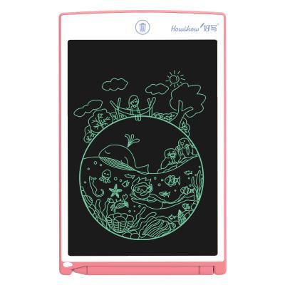 好写(howshow)8.5英寸无尘小黑板 儿童液晶手写板 涂鸦绘画板 学生写字板草稿板 宝宝玩具画画板 H8A樱桃红