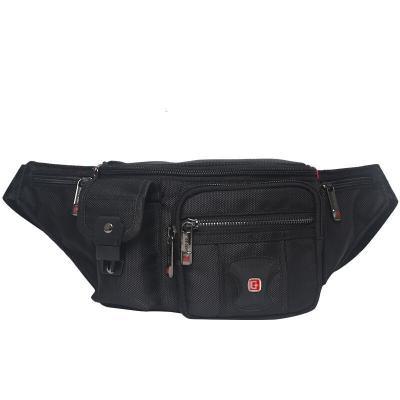 瑞士军刀SWISSGEAR腰包男防水防刮健身腰包时尚休闲户外运动包SA-8012黑色