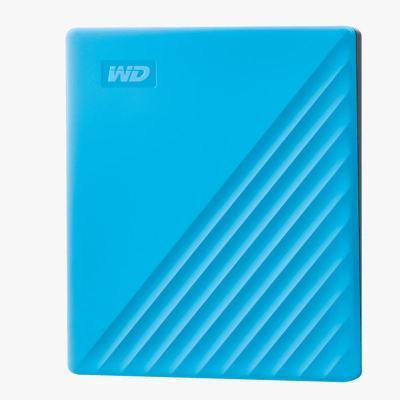 西部數據(WD)4TB USB3.0移動硬盤My Passport隨行版 2.5英寸 藍色WDBPKJ0040BBL