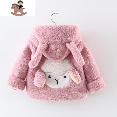 秋冬女兒童外套過年保暖韓版毛呢子大衣女童羊羔絨毛外套洋氣加厚