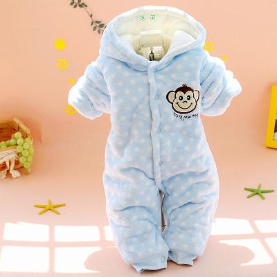 搭啵兔婴儿连体衣秋冬装男女宝宝外出服加厚保暖哈衣冬棉衣衣服0--1岁
