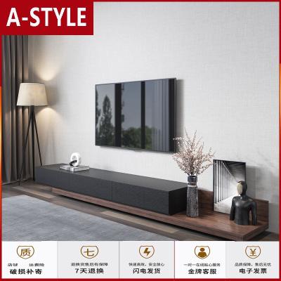 蘇寧放心購北歐電視柜茶幾組合套裝伸縮小戶型簡約現代客廳黑胡桃色家具定制A-STYLE家具
