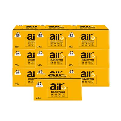 潔云 平板紙 AIR Plus本色衛生紙380張10包組合裝衛生紙