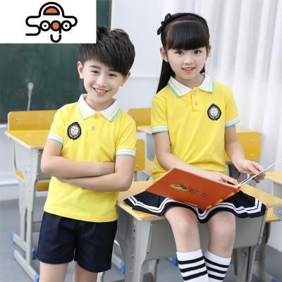 小中大班幼儿园园服夏装短袖套装儿童班服夏天小学生校服红色
