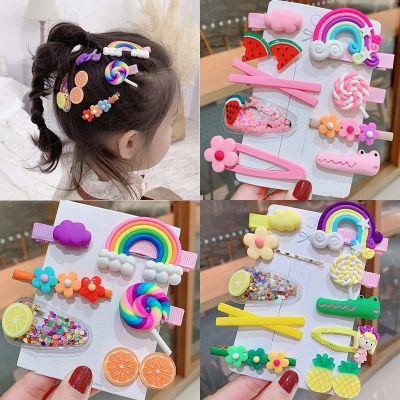 搭啵兔兒童發夾發飾韓國女童寶寶發卡彩虹棒棒糖邊夾小女孩夾子頭飾可愛