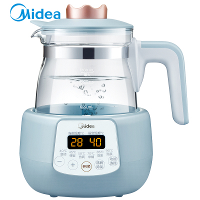 美的(Midea)恒溫調奶器MI-MYTE101恒溫水壺多功能溫奶器嬰兒沖奶水壺玻璃電熱保溫燒水壺