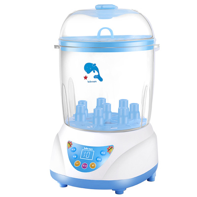 【买一送六】小憨熊bebeours三合一婴儿奶瓶消毒器带烘干智能防干烧自动恒温奶器热奶消毒锅柜二合一带调奶壶蓝色