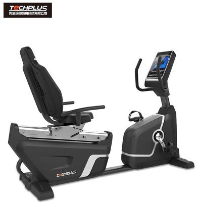美国瑜阳TECHPLUS商用背靠式卧式健身车PB302PRO静音运动健身器材