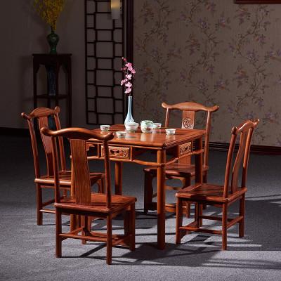半個許仙紅木家具非洲花梨(學名:刺猬紫檀)實木餐桌大方桌正方形茶桌中式休閑棋牌桌餐廳家具 67*67*65cm小方桌