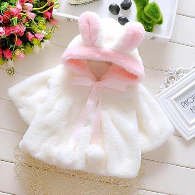 2019女童嬰幼兒披風兒外套寶寶披肩秋冬新款韓版連帽毛茸茸外衣威珺