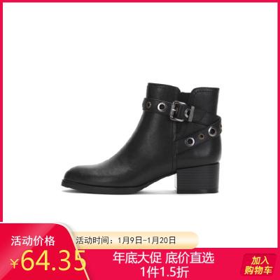 秋冬靴子女粗跟短靴女1017605095