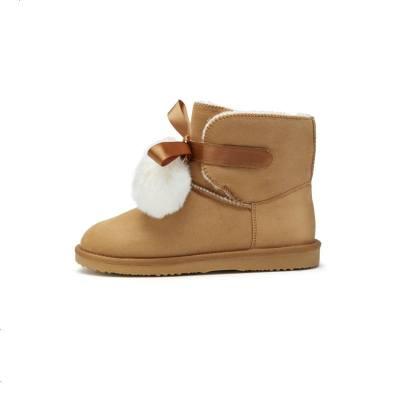 女童雪地靴儿童保暖靴子冬装新款童鞋中大童加绒短靴