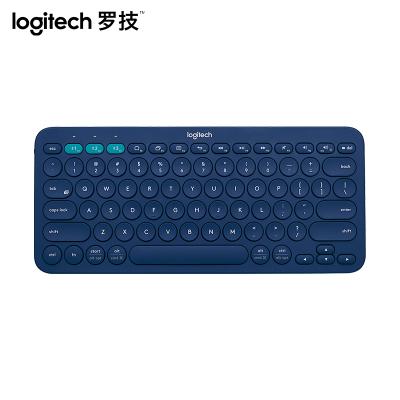 【罗技旗舰店】罗技(Logitech)K380多设备蓝牙键盘 蓝色【不支持五笔输入法】