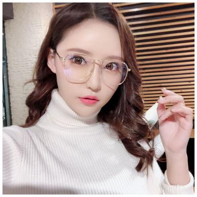 【精品好貨】防輻射眼鏡網紅款電腦男女款游戲護目鏡防疲勞防藍光平光鏡眼鏡框 邁詩蒙