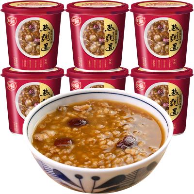 海福盛紅棗桂圓粥6杯裝營養沖泡速溶即食品粥米夜宵早餐代餐方便速食八寶粥