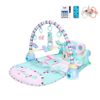 貝恩施嬰兒腳踏琴鋼琴健身架器新生兒寶寶音樂兒童玩具0-1歲3個月 Family貝尼獅子【套餐二】