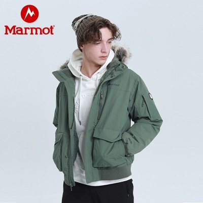 Marmot/土拨鼠新款秋冬防水加厚户外羽绒服700蓬拒水羽绒大衣