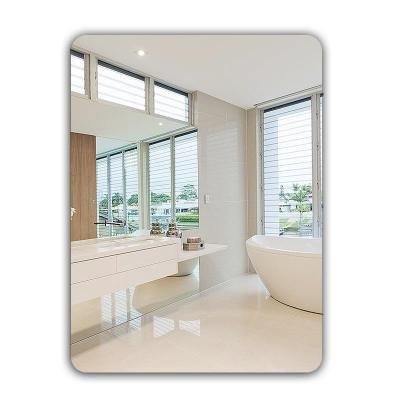 宿巢卫生间浴室贴墙镜子化妆镜壁挂粘贴免打孔厕所洗手间台盆镜挂镜