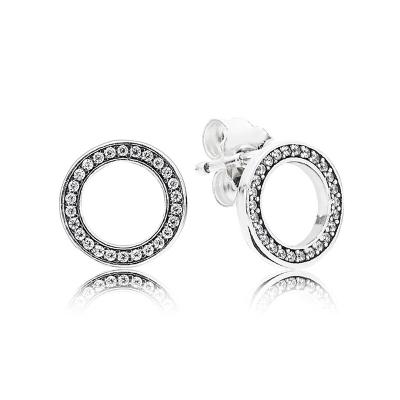 PANDORA 潘多拉 永恒的PANDORA耳环925银耳饰女士耳钉 290585CZ