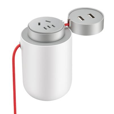 小米(MI) 米家车载逆变器 直流变交流 2个USB充电孔 车用电源转换器 车载电源转换器12v转220v 100w