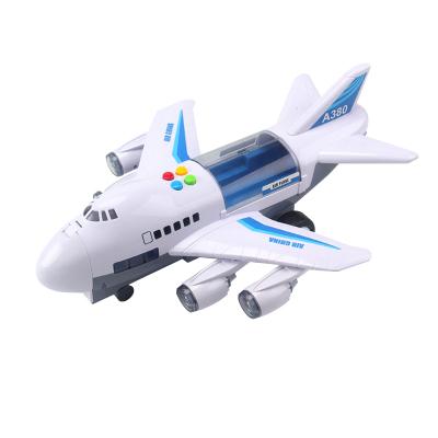 酷伴樂兒童玩具超大號飛機模型慣性軌道客機仿真益智城市工程玩具車+送2輛合金小車