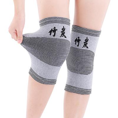 聚福星护膝 竹炭保暖护膝老寒腿 高弹透气骑行爬山保护膝关节四季穿戴护具 男女通用运动护膝