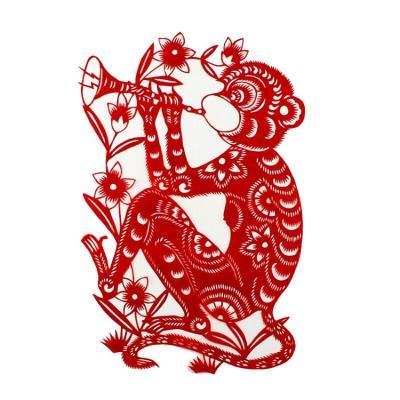 纯手工剪纸画家居装饰十二生肖剪纸中国风陕西剪纸窗花