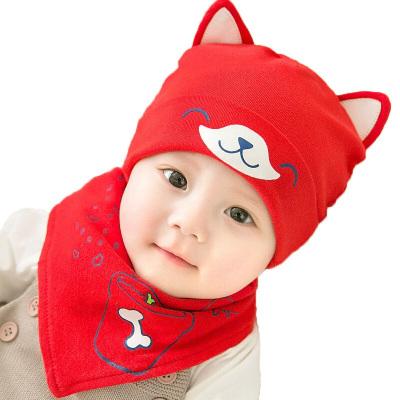 童趣熊PLAYFUL BEAR婴儿帽子秋冬季0-6-12个月满月男女童宝宝纯棉儿胎帽冬季3潮