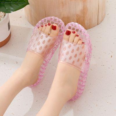 2020新款夏季防滑浴室水晶涼拖鞋女家居男家用防滑按摩室內拖鞋 莎丞