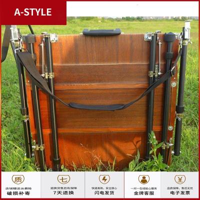 苏宁放心购55乘55cm大号油画箱一体式专业户外写生油画箱画架支架式A-STYLE
