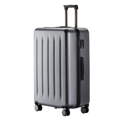 90分旅行箱 靜音萬向輪行李箱大容量密碼箱 純PC拉桿箱男女旅行箱 星空灰 24寸